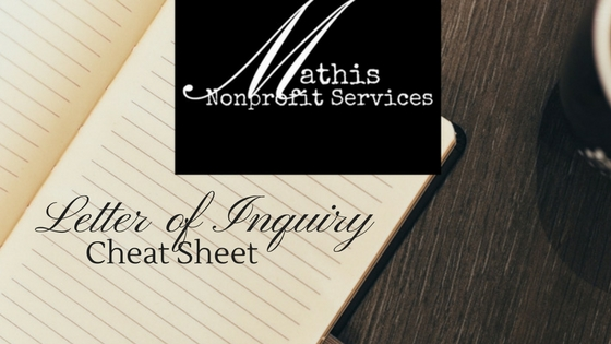 How to Create a Letter of Inquiry System and Cheat Sheet
