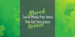March Social Media posts for nonprofits