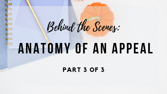 Behind the Scenes: Anatomy of an Appeal