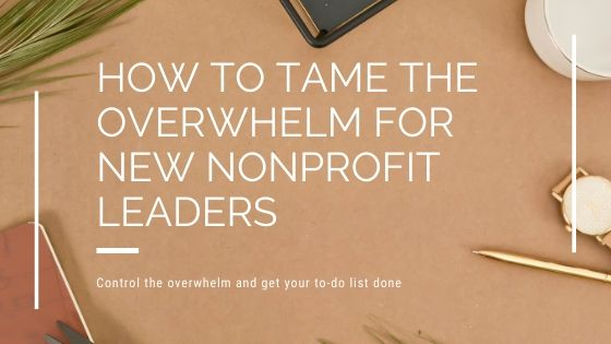 How to Tame the Overwhelm for New Nonprofit Leaders