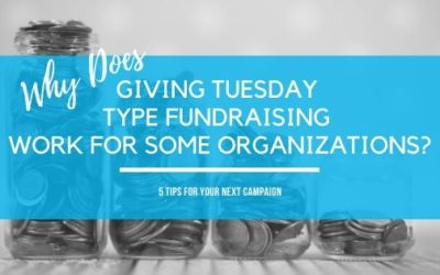 Why Does Giving Tuesday Type Fundraisers Work for Some Organizations?