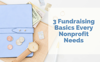 3 Fundraising Basics Every Nonprofit Needs